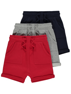 Jersey Drawstring Shorts 3 Pack
