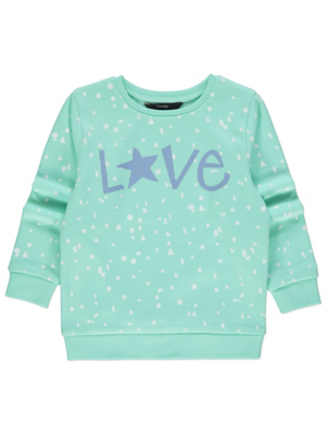 Mint Slogan Sweatshirt