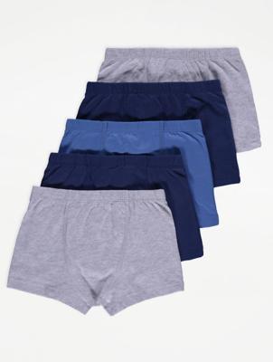 Blue Trunks 5 Pack