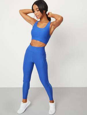 Blue Ultimate Full Length Sports Leggings