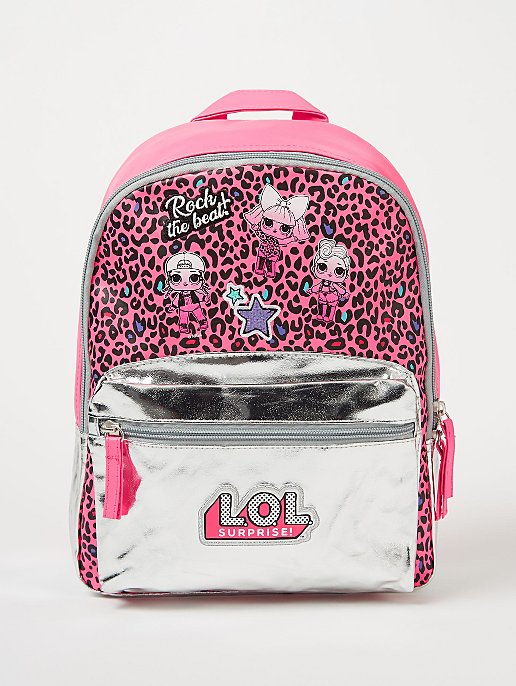 LOL Surprise! Pink Leopard Print Rucksack