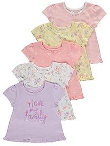 Pink Baby Girls/' Rabbit Grow 5 Piece Gift Set