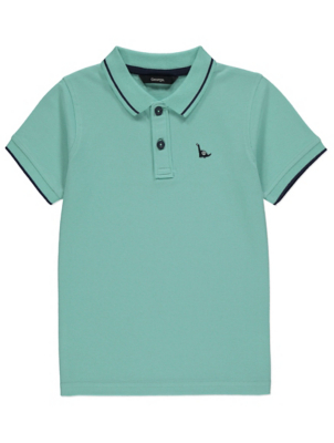Mint Dinosaur Emblem Polo Shirt