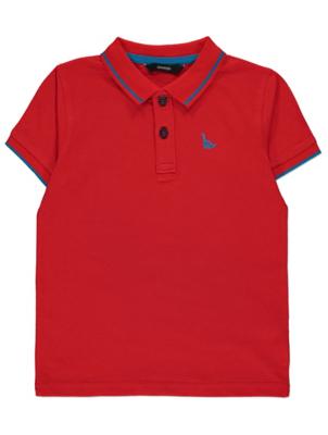 Red Dinosaur Logo Polo Shirt