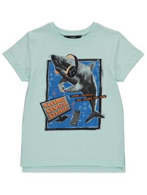 Mint Gaming Shark Graphic T-Shirt