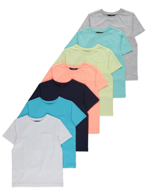 Pocket Detail T-Shirts 7 Pack