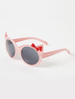 Pink Glitter Cat Sunglasses