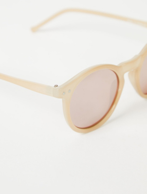 Pink Rounded Sunglasses