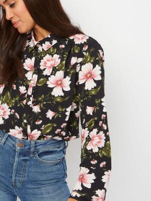 Black Garden Floral Shirt