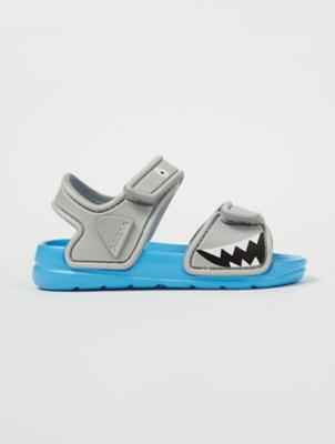 Grey Shark Beach Sandals