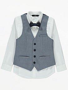 Boys George Waist Coat And Bow T-Shirt