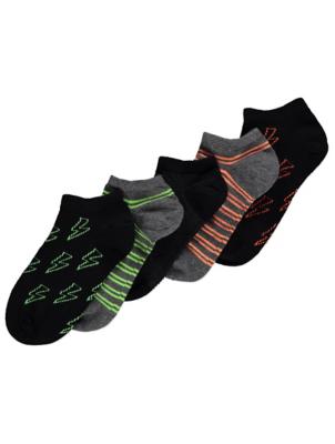 Lightning Bolt Trainer Liner Socks 5 Pack