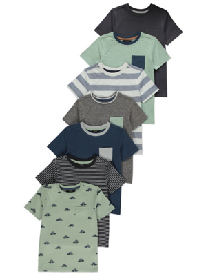Assorted Short Sleeve T-Shirts 7 Pack
