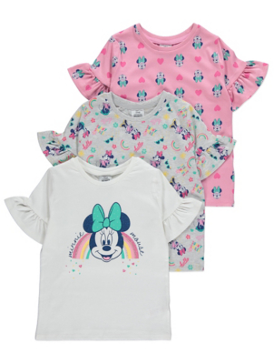 Disney Minnie Mouse T-Shirts 3 Pack