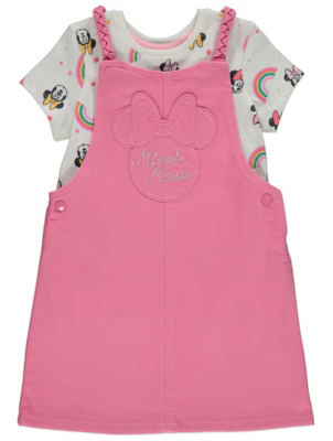 Disney Minnie Mouse Pinafore Dress and Top Outfit