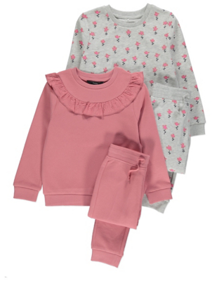 Pink Sweatshirt and Joggers Set 2 Pack