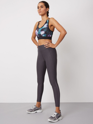 Grey Marl Ultimate Full Length Sports Leggings