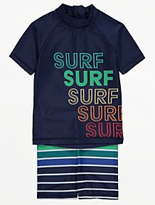 UV Sunsuit /& UPF50 Baby Boys 3pc Dinosaur UPF40 Sun Hat Sunsafe Swimsuit Set