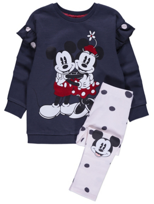 Disney Micky and Minnie Mouse Sweatshirt and Leggings Outfit