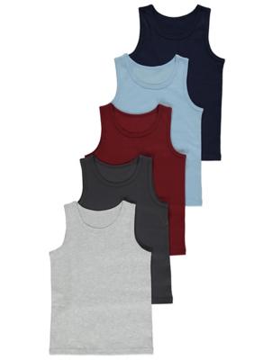Jersey Vests 5 Pack