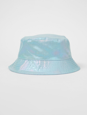 Iridescent Blue Bucket Hat