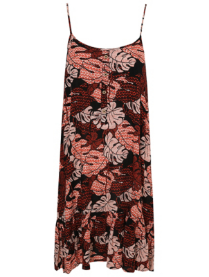 Black Abstract Print Sundress