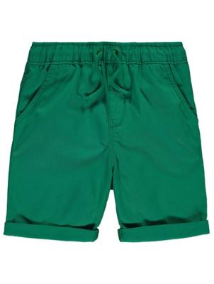 Green Woven Shorts