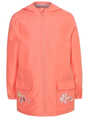 Pink Shower Resistant Embroidered Mac