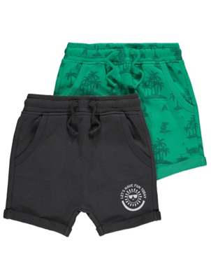 Printed Jersey Shorts 2 Pack
