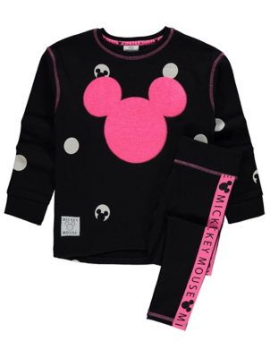 Disney Mickey Mouse Sequin Sweatshirt and Leggings Outfit