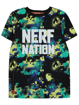NERF Black Printed T-Shirt