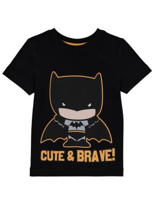 Batman Black Slogan Graphic Cotton T-Shirt