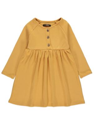 Mustard Yellow Ribbed Dress