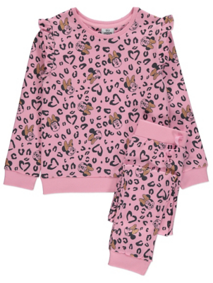 Disney Minnie Mouse Pink Leopard Print Outfit