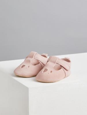 Billie Faiers Pink Suede T-Bar Shoes