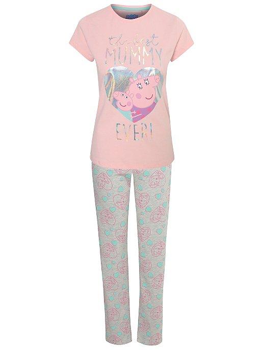 Peppa Pig Womens Mummy Pig Pajamas