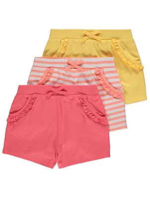 Jersey Frill Shorts 3 Pack