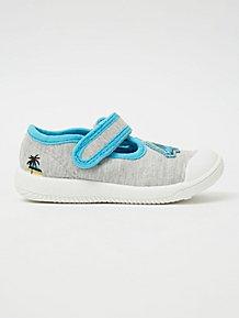 INFANTS BOYS GIRLS BLUE PAW PATROL CANVAS PUMPS TRAINERS SIZES 5,6,7,8,9,10