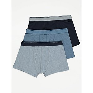 Blue Jersey A-Front Fly Trunks 3 Pack