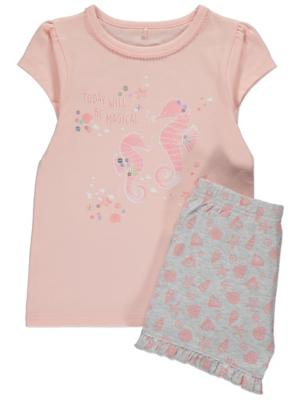 Pink Seahorse Short Short Sleeve Pyjamas