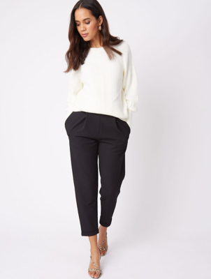 Black Formal Tapered Trousers