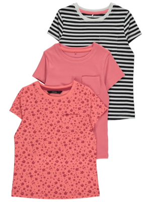 Patterned T-Shirts 3 Pack
