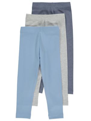 Blue Assorted Leggings 3 Pack