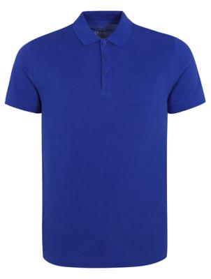 Blue Pique Short Sleeve Polo Shirt