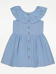 GirlsGREEN /& WHITE StripeSchool Summer Dress LARGE size 36 Age 14//15 .