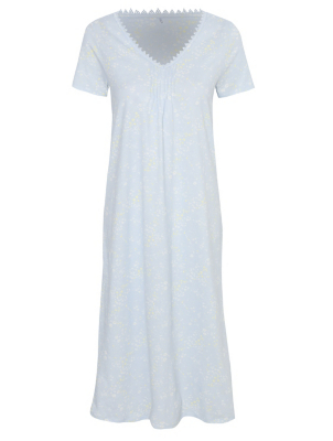 Pale Blue Floral Nightdress