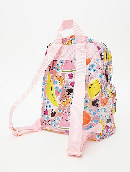 Disney Minnie Mouse Pink Clear Fruit Print Backpack Kids George At Asda