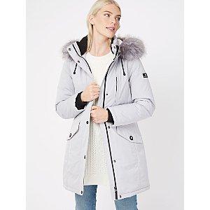 Ozark Grey Faux Fur Trim Waterproof Hooded Parka