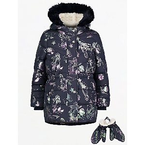 Disney Frozen 2 Anna and Elsa Padded Coat with Mittens