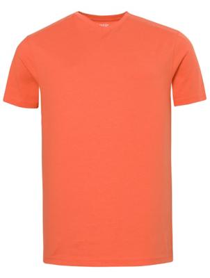Coral Red V-Neck T-Shirt